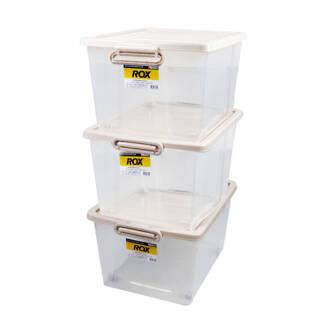12日10点:TENMA天马株式会社 塑料透明整理箱60L三只装 加厚抗压衣物杂物多功能玩具特大号后备箱收纳箱子盒子储物箱 176元