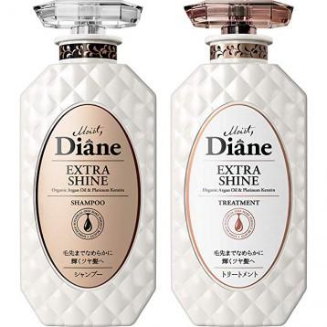 ¥108.79元日本直邮!Moist Diane 黛丝恩 EXTRA SHINE 无硅油闪亮秀发洗护套装 日本直邮!洗发水 护发素各450ml