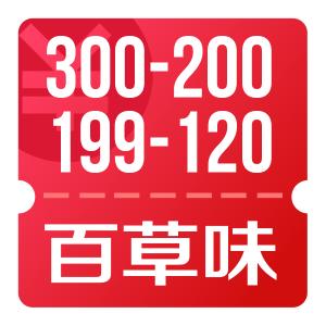 京东 百草味 休闲零食 300减200 活动商品没提价