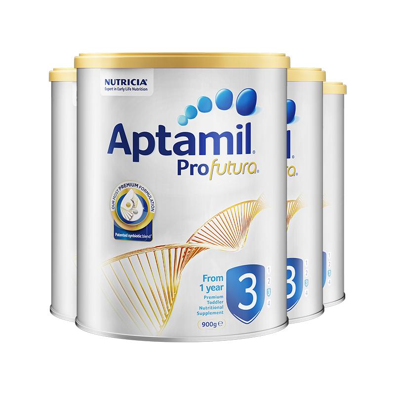 ¥760 Aptamil 爱他美 白金版 婴幼儿奶粉 3段 900g*4罐