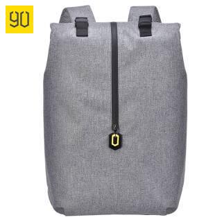 90分双肩包 户外休闲韩版潮流背包14英寸电脑包 书包 灰色 99元