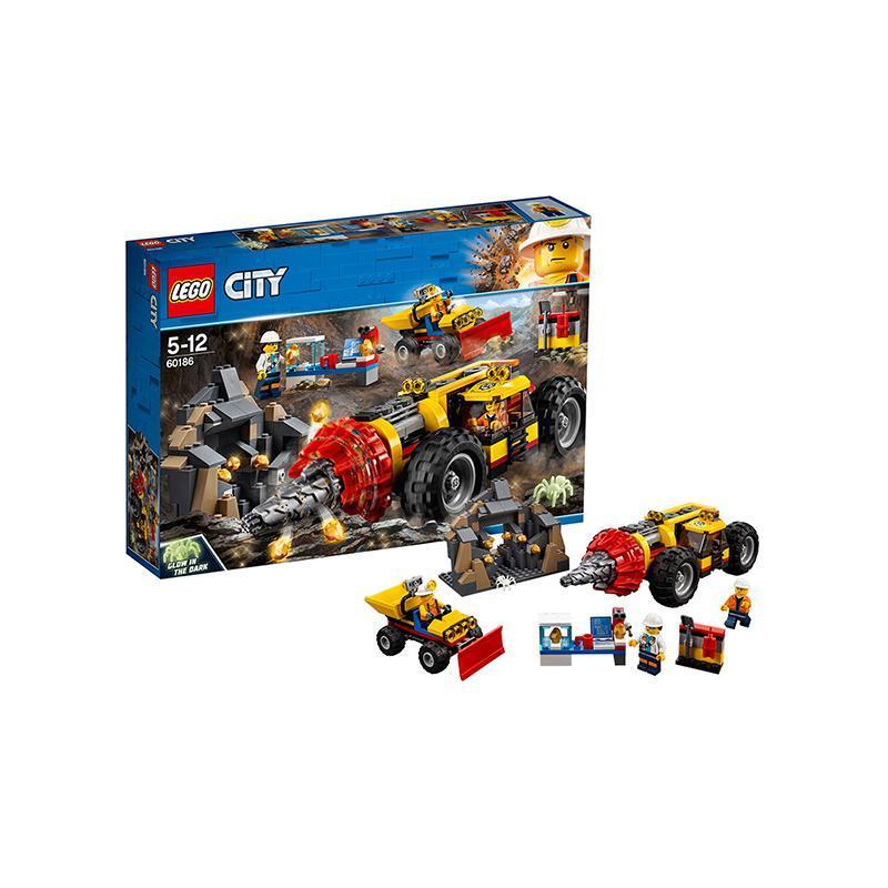 双11预售、考拉海购黑卡会员: LEGO 乐高 City城市系列 60186 重型采矿钻孔机 239.04元包邮包税