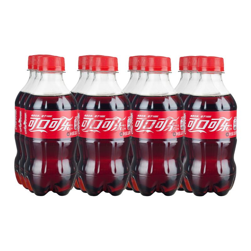 ¥15.9 28日0点: 可口可乐碳酸饮料 300ML*12