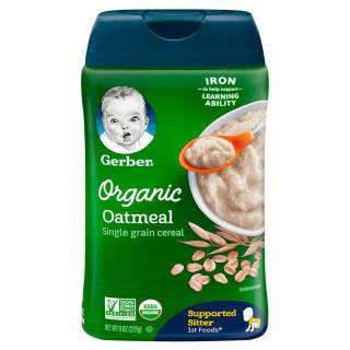 嘉宝(Gerber) 有机燕麦婴幼儿米粉 1段 227g *8件 182.8元(合22.85元/件)