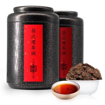 森雲 普洱茶熟茶 易武老茶头 两罐共500克 115元+10京豆 ¥115