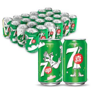 七喜 7UP 柠檬味 汽水碳酸饮料 330ml*24罐 整箱装 百事可乐公司出品 *4件 147.6元(合36.9元/件)