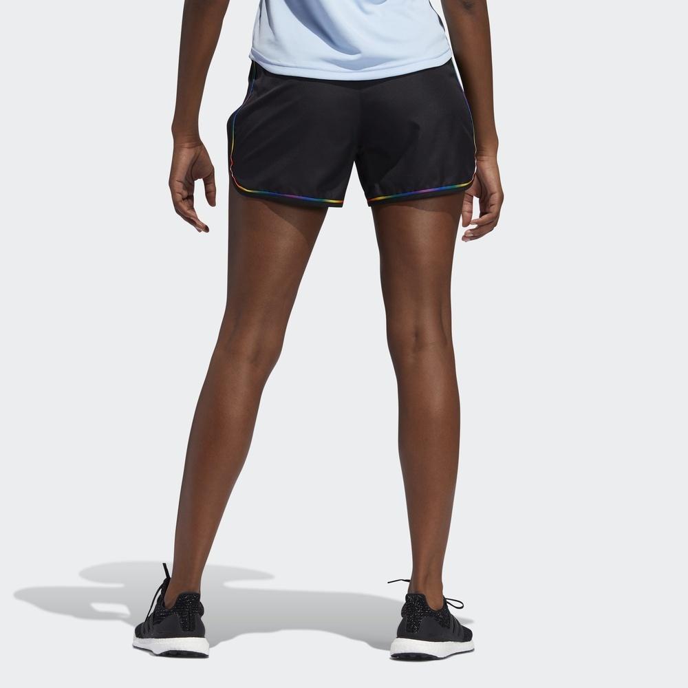 阿迪达斯官网 adidas M20 SHORT PRIDE 女装跑步短裤EK4328 82元