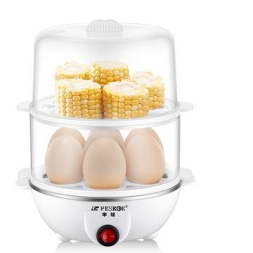 Peskoe 半球 多功能煮蛋器 两层 白色 19.9元包邮(需用券) ¥20