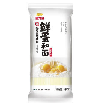 京东PLUS会员: 金龙鱼 高筋系列 鸡蛋麦芯挂面 1kg * 72.9元