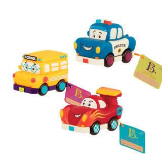 B.Toys 比乐 迷你回力车 速度组 校车赛车警车3个装 小车玩具 周岁礼物 婴幼安抚 儿童益智玩具 1岁+BX1657Z 99元