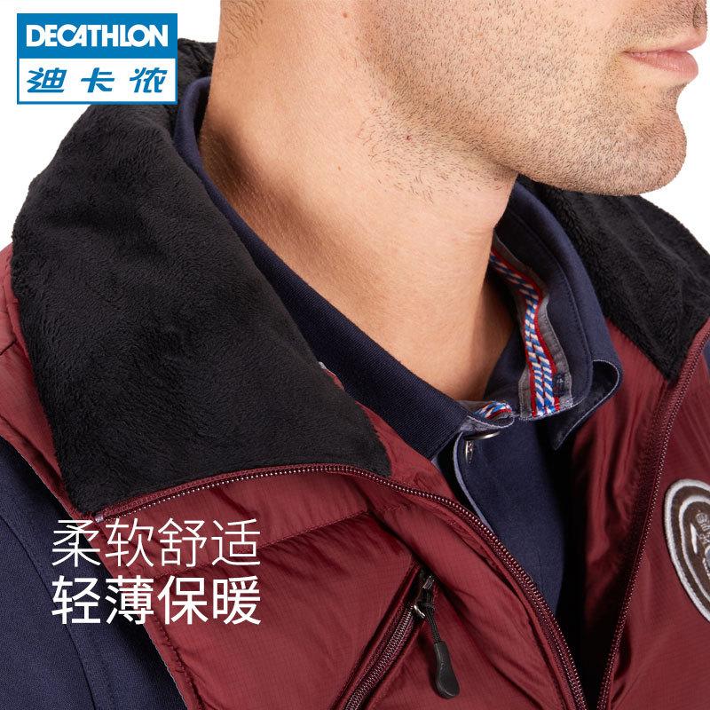 ¥169.9包邮 迪卡侬户外运动棉马甲棉衣男运动保暖棉秋冬背心马术FOUGANZA