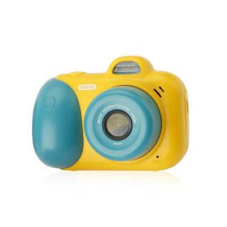贝恩施儿童玩具迷你智能儿童相机前后双摄高清数码相机男孩女孩玩具儿童生日礼物ZN08黄绿+凑单品 107元