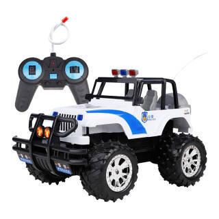 DZDIV 遥控车 越野车儿童玩具大型遥控汽车模型耐摔配电池可充电3030 警车款 20元