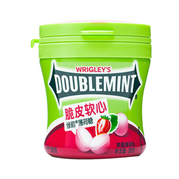 限地区: 绿箭 脆皮软心薄荷糖 草莓薄荷味 80g *24件 65.5元