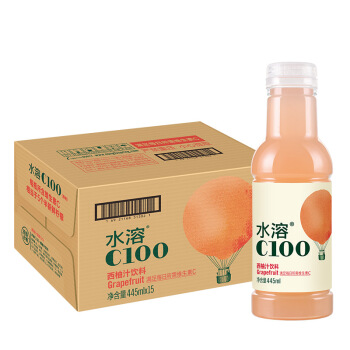 农夫山泉 水溶C100西柚味 复合果汁饮料445ml*15瓶 整 129.69元