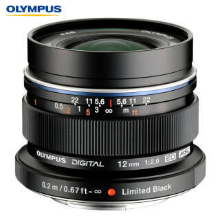 奥林巴斯(OLYMPUS) M.ZUIKO DIGITAL ED 12mm f2.0 广角定焦镜头 黑色 4169元