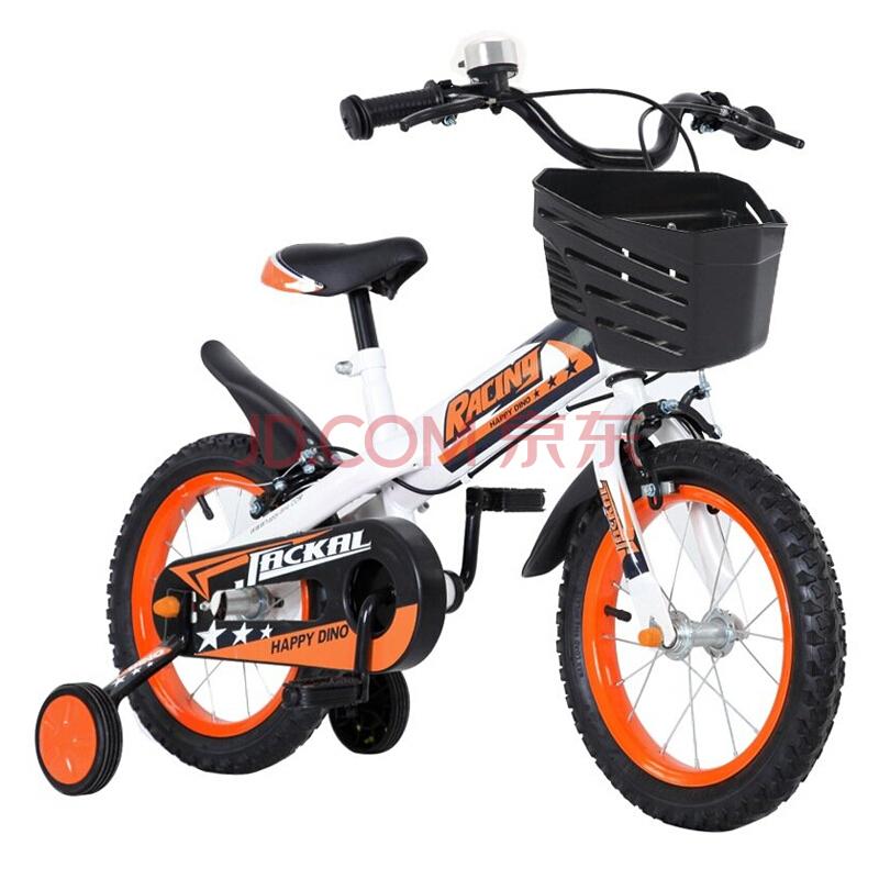 ¥159 Happy Dino 小龙哈彼 LB03 儿童自行车 14寸 白橙色