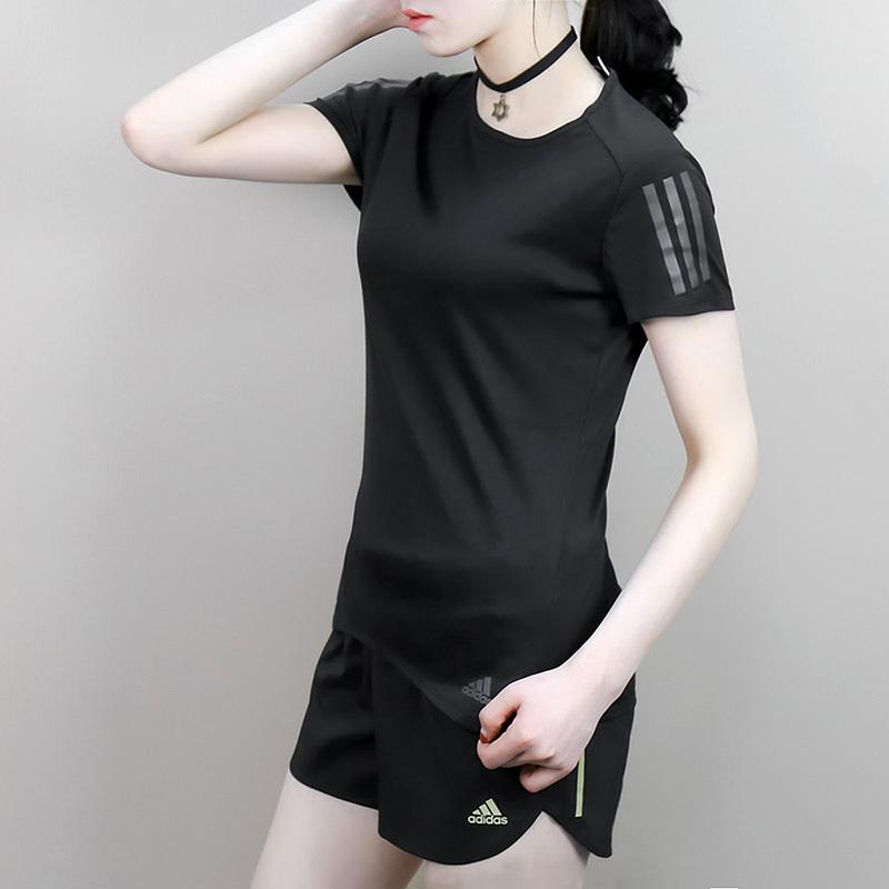 adidas阿迪达斯夏季圆领透气运动休闲短袖T恤CF2148 85元