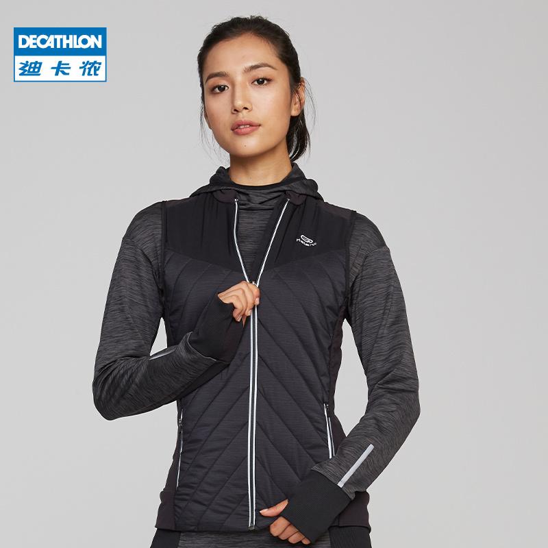 迪卡侬旗舰店运动单马甲女户外休闲跑步健身运动背心RUNW 149.9元