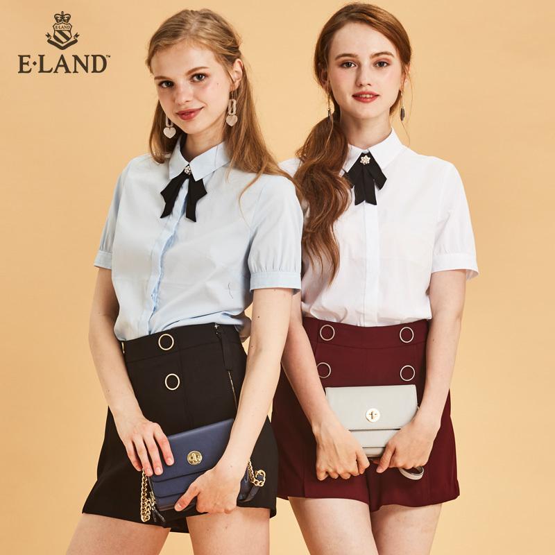ELAND韩版通勤学生链条包单肩斜挎包小包女EEAK8F812M 269元