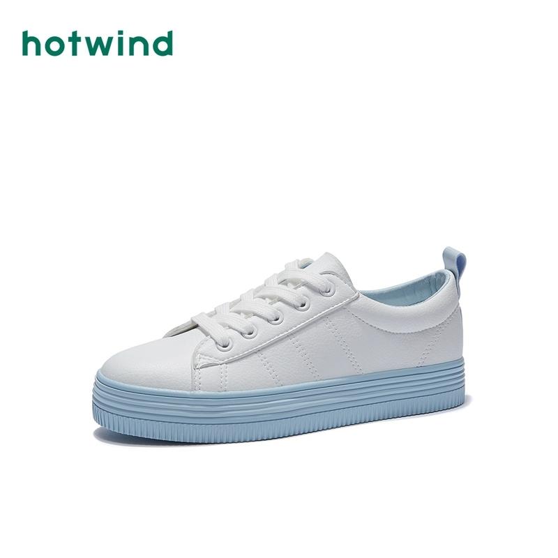 热风2019年春季新款女士平底时尚休闲板鞋百搭单鞋小白鞋H14W9525 69元