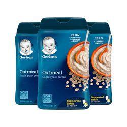 新用户: Gerber 嘉宝 婴幼儿米粉 227g 一段 高铁锌燕麦味 3罐装 29元(合9.67元/件)