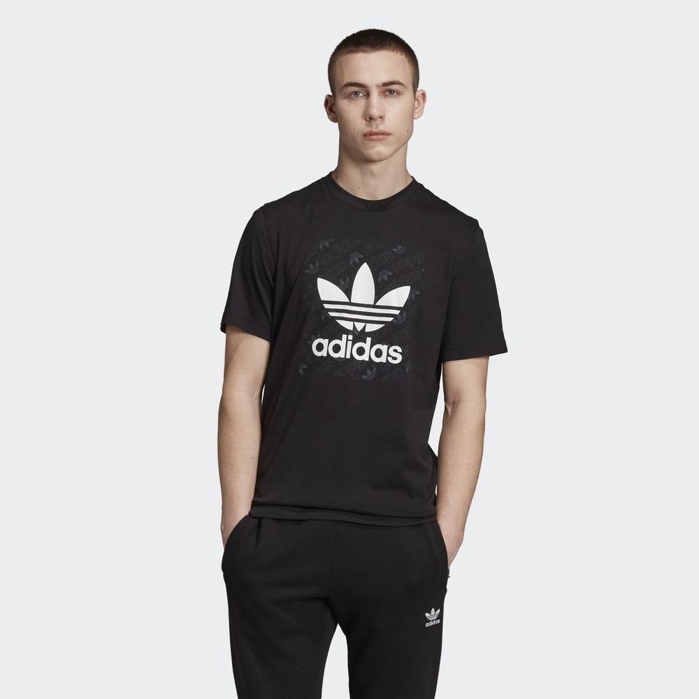 adidas阿迪达斯三叶草2019男子MONO SQUARE TEE短袖T恤ED7043 236元